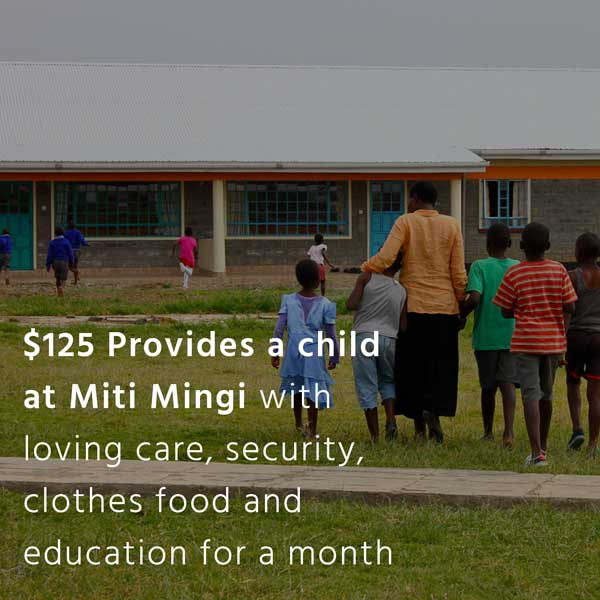 Impact Tile. $125 provides a child at Mitii Mingi with loving care, security, clothes food and education for a month